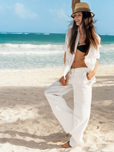 Original White Beach Pants Pants White Seafolly Souvenir Bay Beachwear